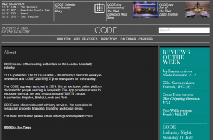 code hospitality bulletin news cafes bars restaurants London