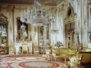 The White Drawing Room at Buckingham Palace London